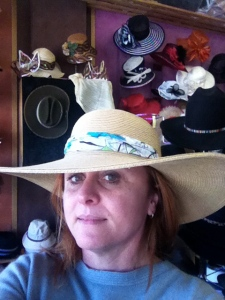 Louise Kelly in the Millinery Shop, Kandos in the Greater Blue Mountains